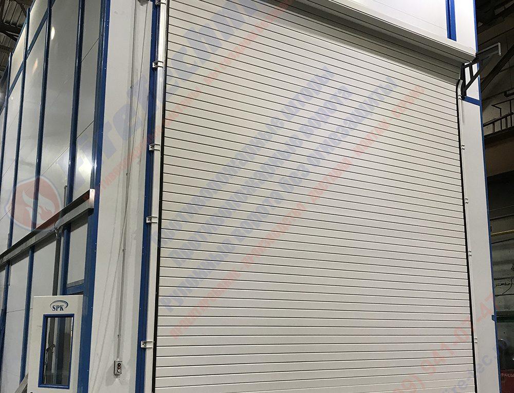 Рулонные промышленные ворота из алюминиевого профиля, AL120