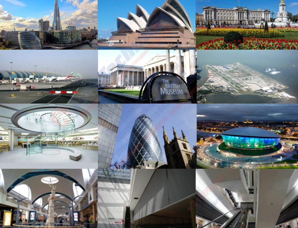 Известные здания мира, где установлены противопожарные шторы